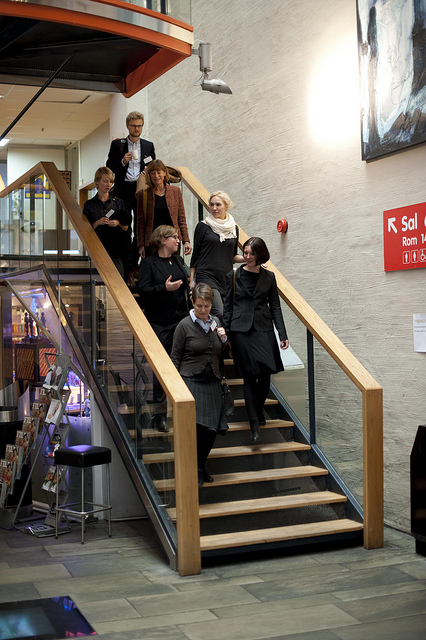 Projects participants in Inside out and Picturing the Brain at the Media Acts conference NTNU, Trondheim in 2011.